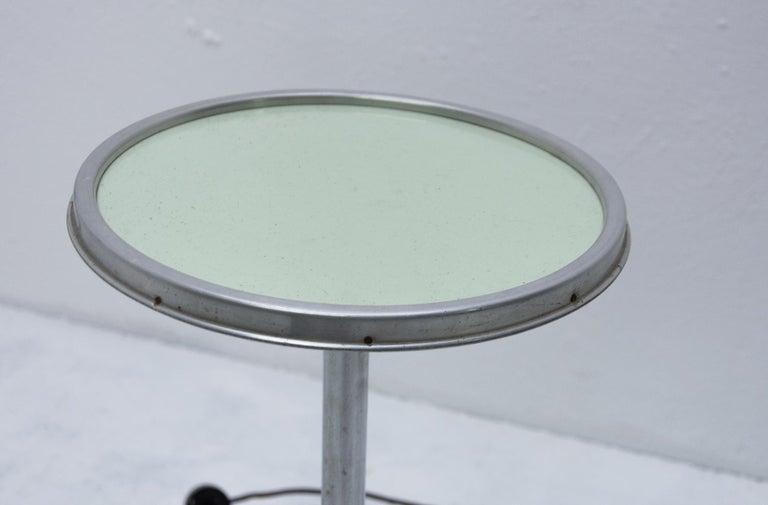 Bauhaus Chromed Floor Lamp by Robert Slezak, 1930s, Bohemia For Sale 3