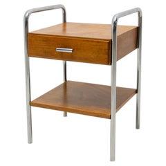 Bauhaus Chromed Side or Bedside Table by Robert Slezak, 1930´S, Czechoslovakia