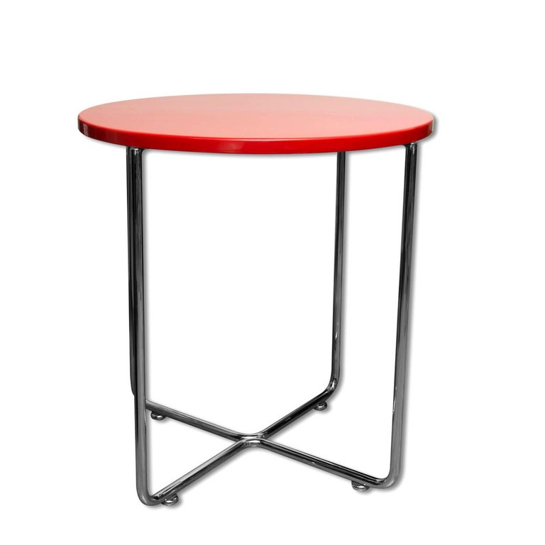 Bauhaus Coffee or Side Table from Vichr & Spol, 1930s, Bohemia For Sale 5