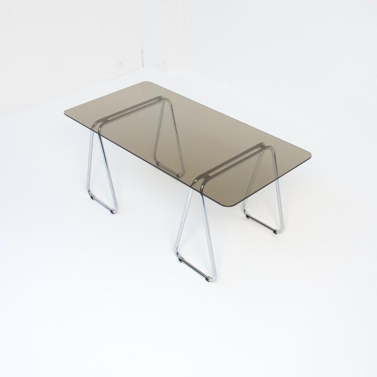 This rare drafting table or desk was designed by Marcel Breuer in 1926. This one is produced by Gavina in the 1960s.