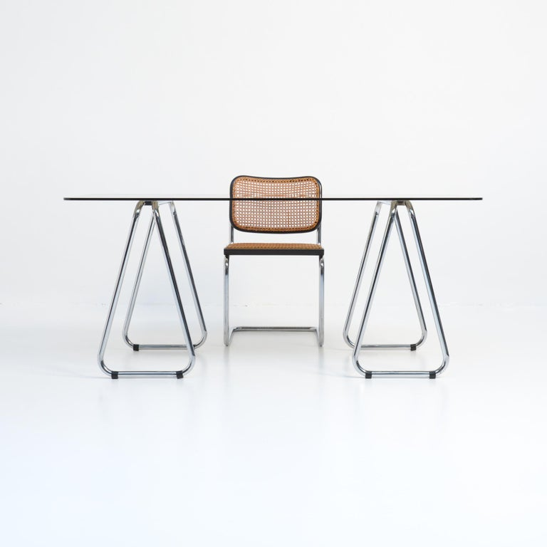 Bauhaus Desk and Cesca Chair by Marcel Breuer for Gavina In Good Condition In Vlimmeren, BE