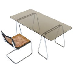 Bauhaus Desk and Cesca Chair by Marcel Breuer for Gavina