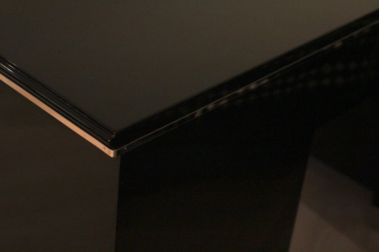 Bauhaus Desk, Black Lacquer and Chrome, Germany, circa 1930 For Sale 6