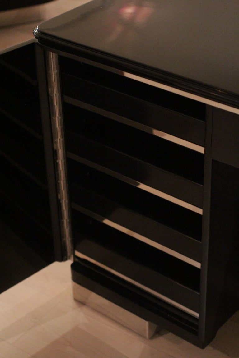 Bauhaus Desk, Black Lacquer and Chrome, Germany, circa 1930 For Sale 7