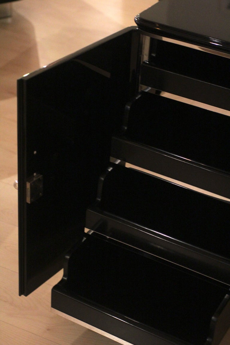 Bauhaus Desk, Black Lacquer and Chrome, Germany, circa 1930 For Sale 8