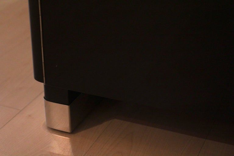 Bauhaus Desk, Black Lacquer and Chrome, Germany, circa 1930 For Sale 13