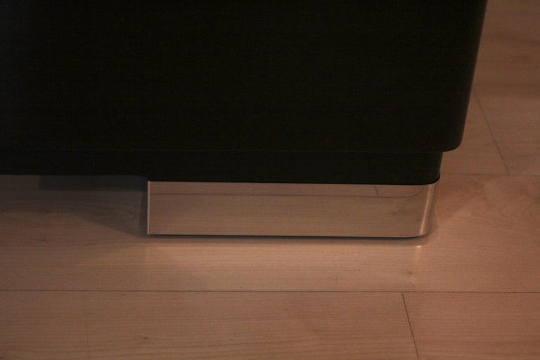 Bauhaus Desk, Black Lacquer and Chrome, Germany, circa 1930 For Sale 14