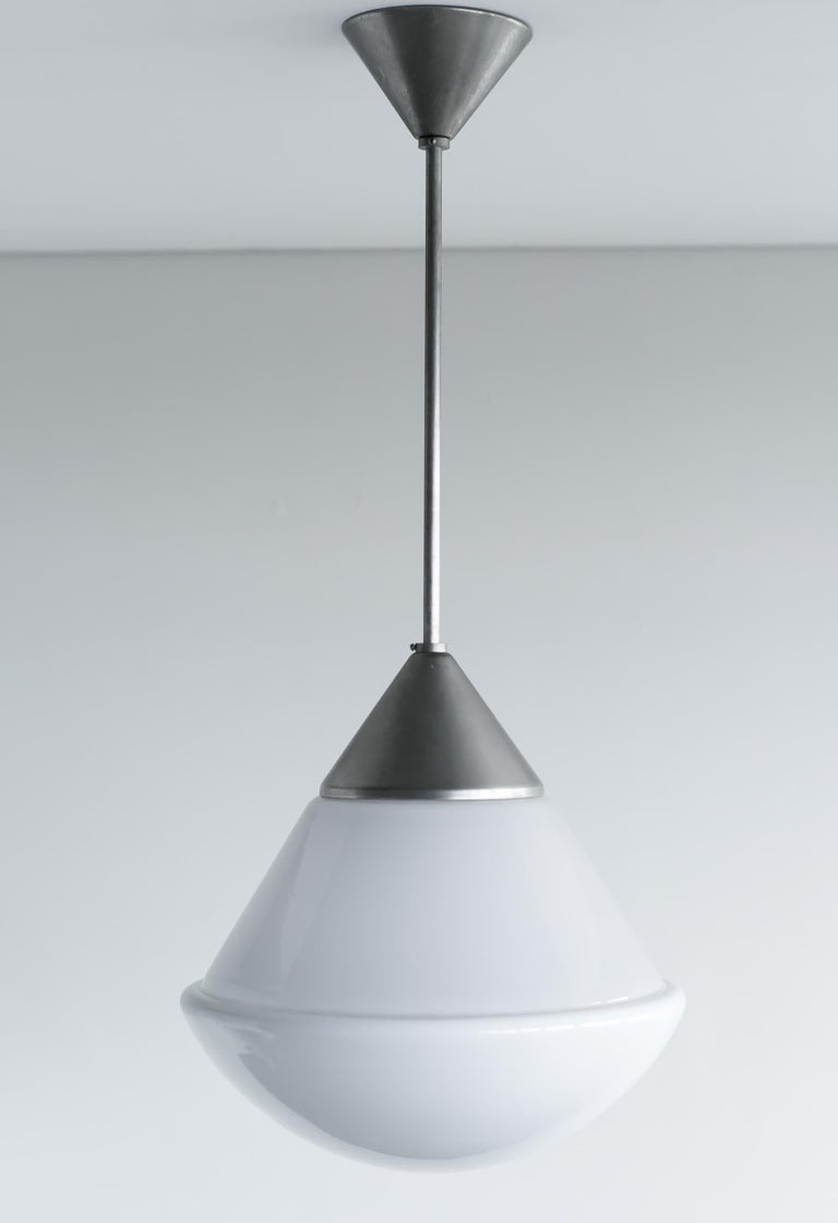 Plated Bauhaus Dessau Pendant by Marianne Brandt For Sale
