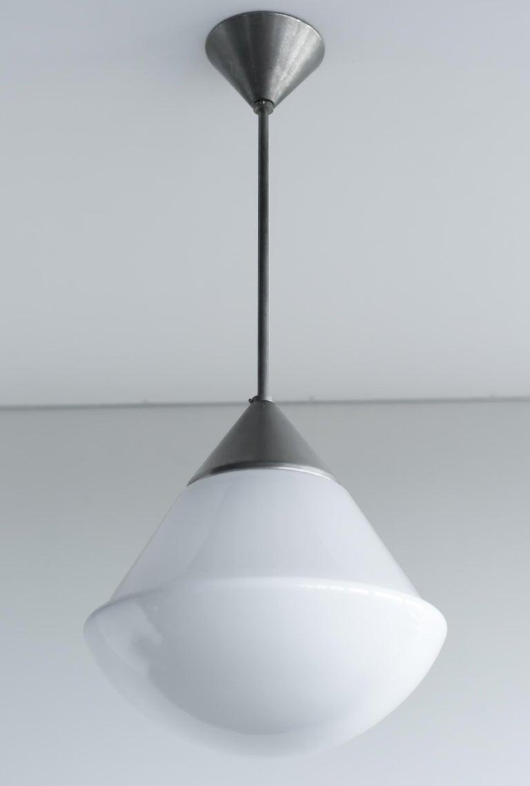 Nickel Bauhaus Dessau Pendant by Marianne Brandt For Sale