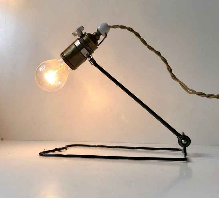 Bauhaus Era Garage, Workshop Wall or Table Lamp by Besiva, Germany 1930s  In Good Condition For Sale In Esbjerg, DK