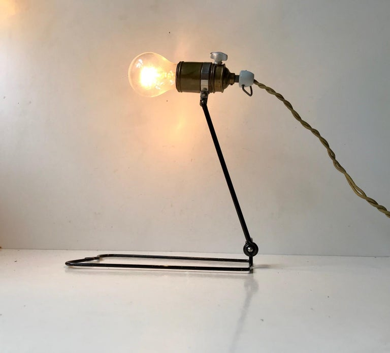 Mid-20th Century Bauhaus Era Garage, Workshop Wall or Table Lamp by Besiva, Germany 1930s  For Sale