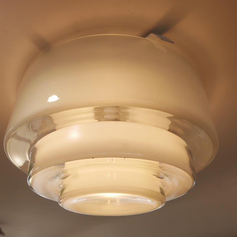 Bauhaus Flush Ceiling Light by Otto Muller for Sistrah from Germany In Good Condition In Surbiton, Surrey
