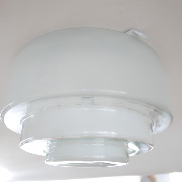 Mid-20th Century Bauhaus Flush Ceiling Light by Otto Muller for Sistrah from Germany