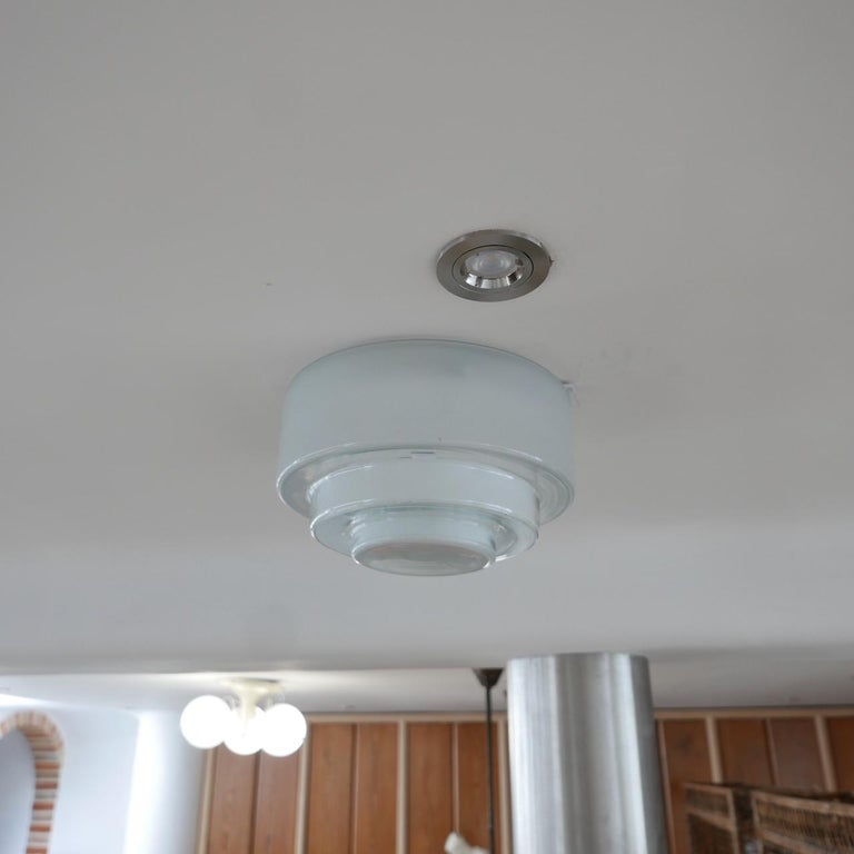 Bauhaus Flush Ceiling Light by Otto Muller for Sistrah from Germany 1