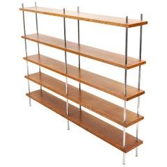 Bauhaus Freestanding Oak Bookcase