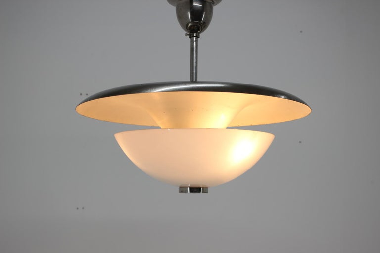 - 1930s - Designer: F. Anýž - Two indirect zones - Good condition with minor signs of use - Newly rewired.