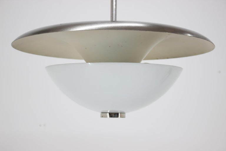 Bauhaus Functionalims Pendant, František Anýž, 1930s In Fair Condition For Sale In Praha, CZ