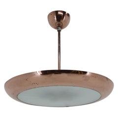 Bauhaus / Functionalism Brass UFO Pendant, 1940s