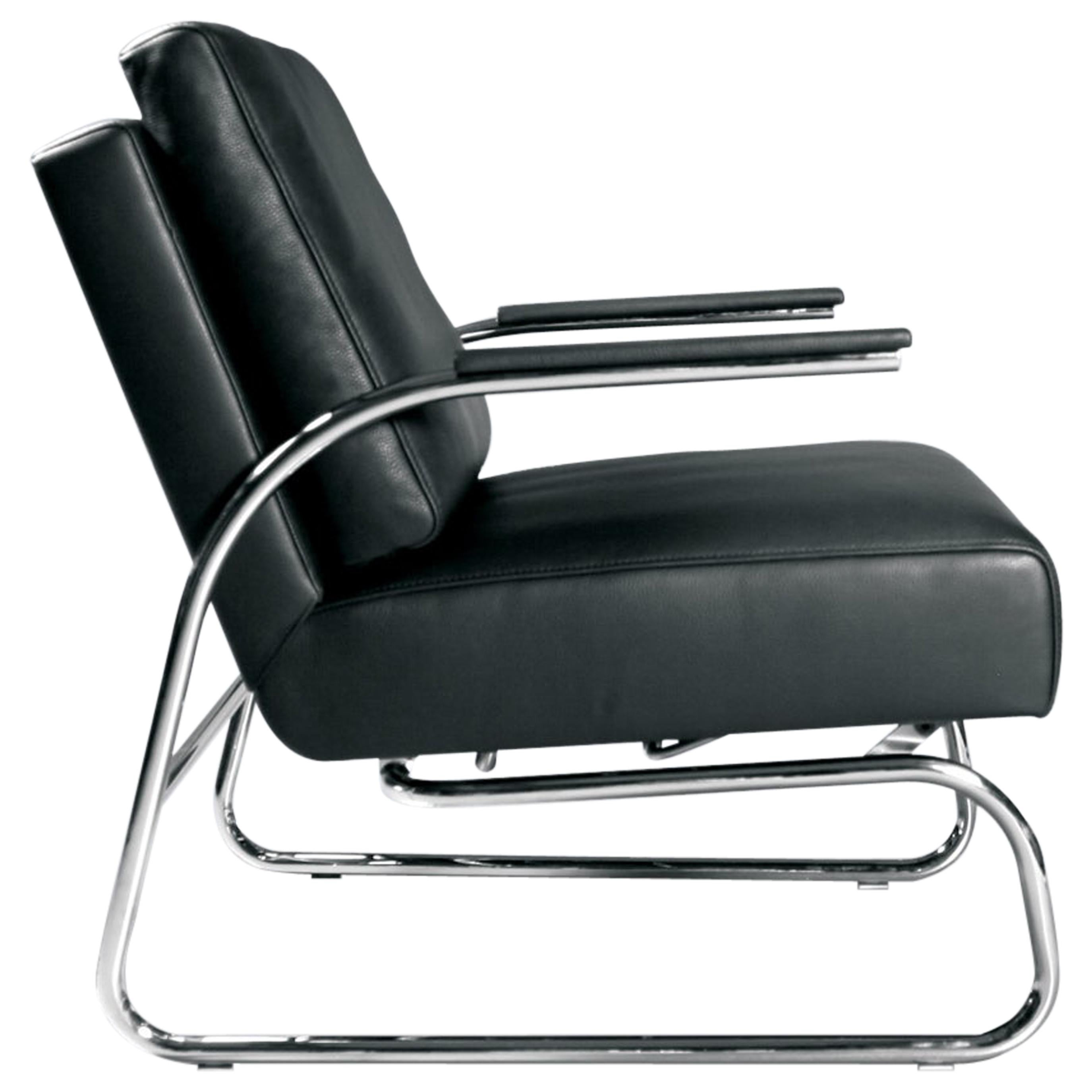Bauhaus Gabo Adjustable Cantilever Leather Chair by FSM