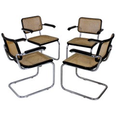 Bauhaus Icon Thonet Cantilever Armchairs Model B64 by Marcel Breuer, 1927