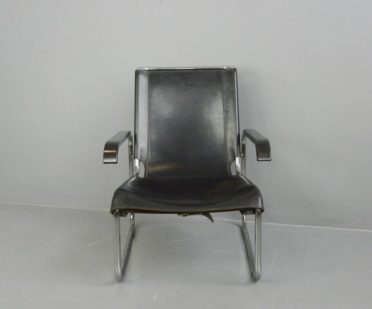 German Bauhaus Lounge Chair by Marcel Breuer for Thonet For Sale