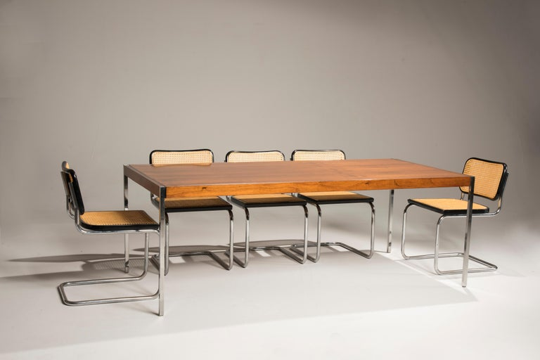 Bauhaus Marcel Breuer Cesca Chairs for Knoll Production, 8 Chairs Available For Sale 4