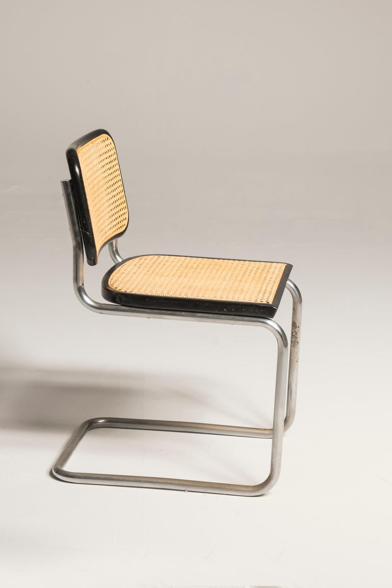 Italian Bauhaus Marcel Breuer Cesca Chairs for Knoll Production, 8 Chairs Available For Sale