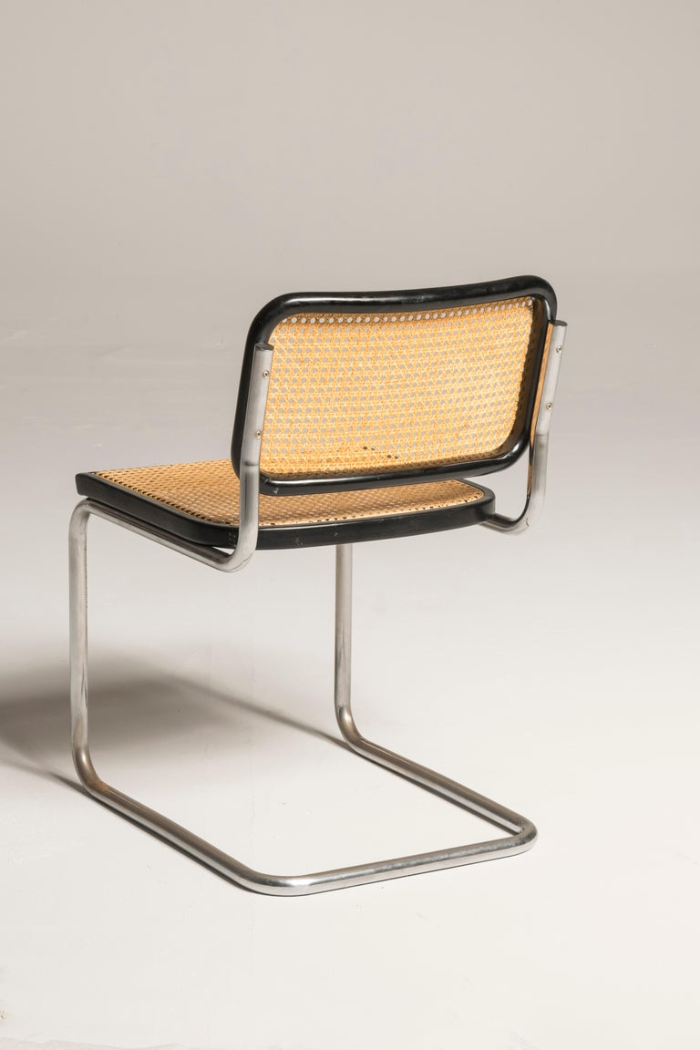 Bauhaus Marcel Breuer Cesca Chairs for Knoll Production, 8 Chairs Available In Good Condition For Sale In Milano, IT