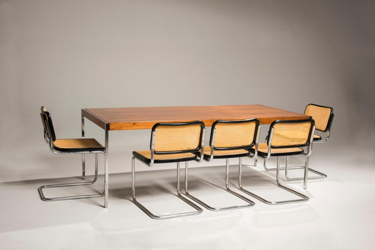 Bauhaus Marcel Breuer Cesca Chairs for Knoll Production, 8 Chairs Available For Sale 2
