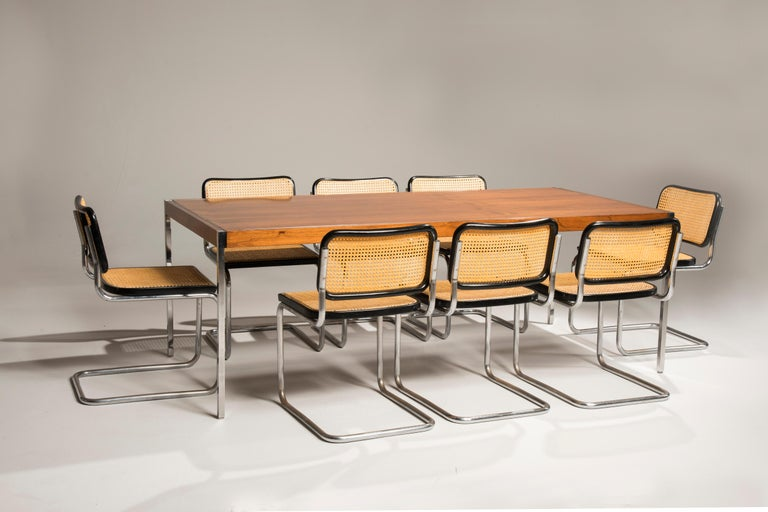 Bauhaus Marcel Breuer Cesca Chairs for Knoll Production, 8 Chairs Available For Sale 3