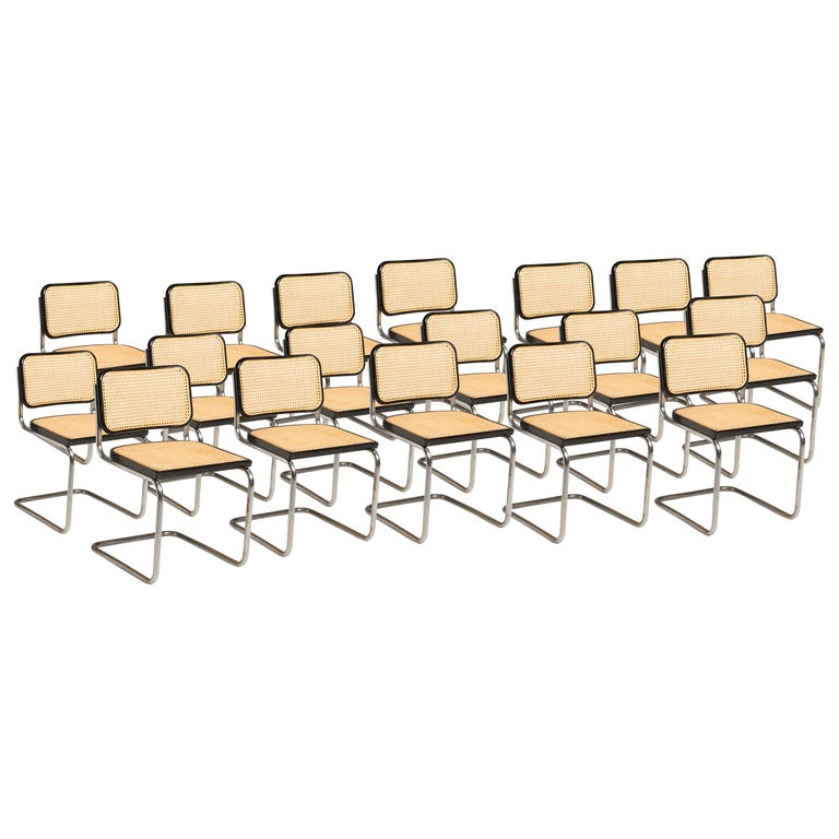 Bauhaus Marcel Breuer Cesca Chairs for Knoll Production, 8 Chairs Available For Sale