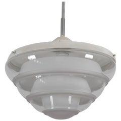 Bauhaus Style Opaline Glass Pendant