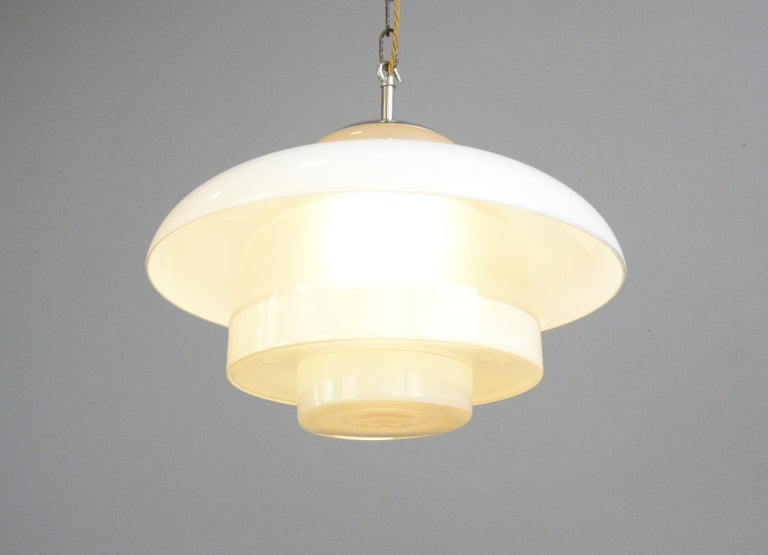 German Bauhaus Pendant Lights by Mithras, circa 1930s