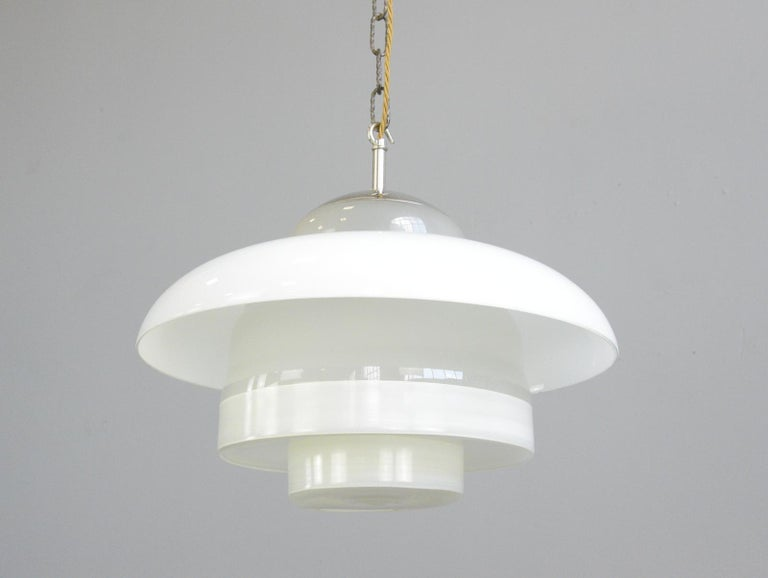Bauhaus Pendant Lights by Mithras, circa 1930s In Good Condition In Gloucester, GB