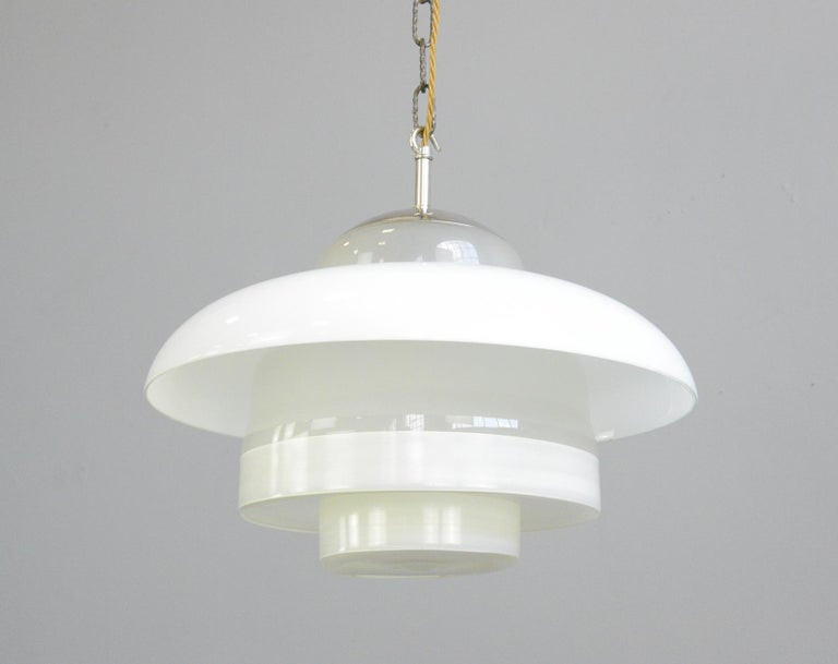Bauhaus Pendant Lights by Mithras, circa 1930s 1