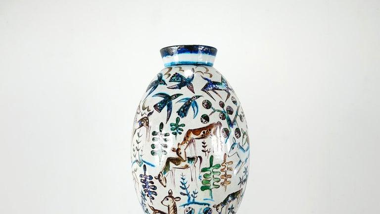 Bauhaus Professor Ludwig König Giant Vase Karlsruher Majolika For Sale 8