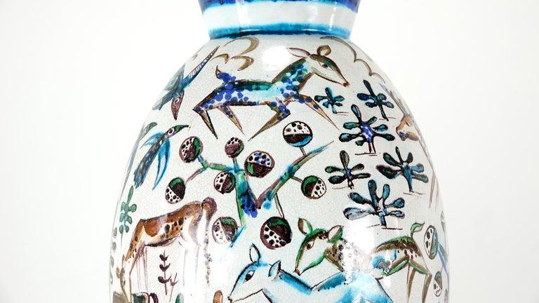 Bauhaus Professor Ludwig König Giant Vase Karlsruher Majolika For Sale 9