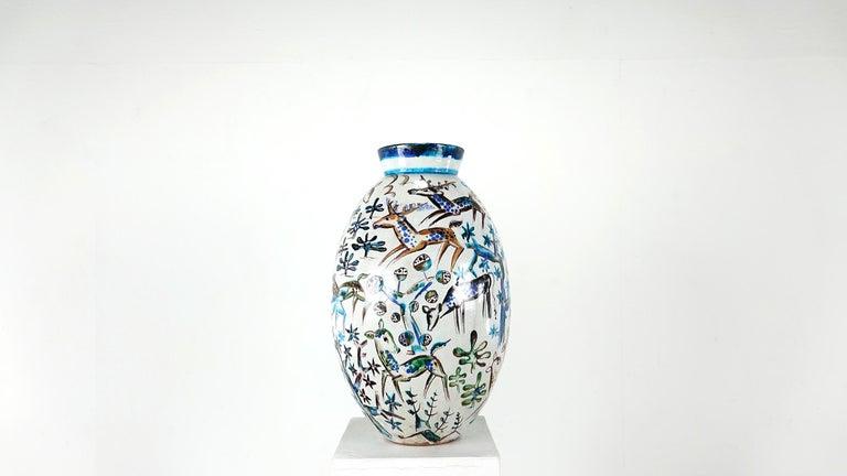 Bauhaus Professor Ludwig König Giant Vase Karlsruher Majolika For Sale 12