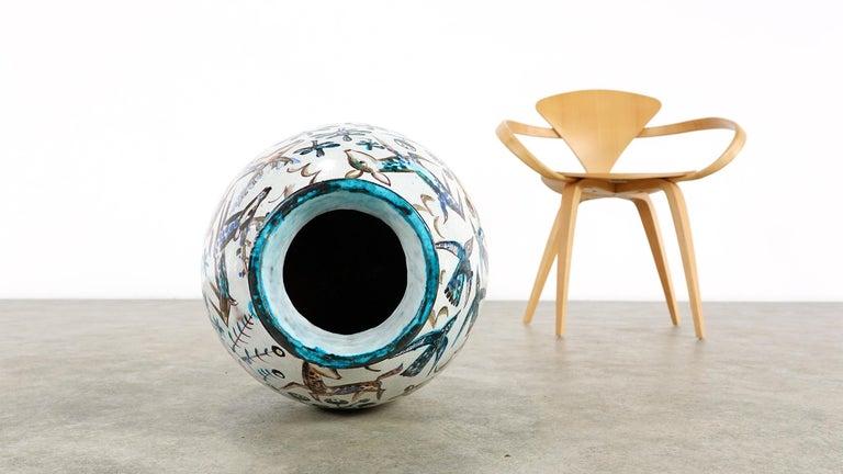 Bauhaus Professor Ludwig König Giant Vase Karlsruher Majolika For Sale 1