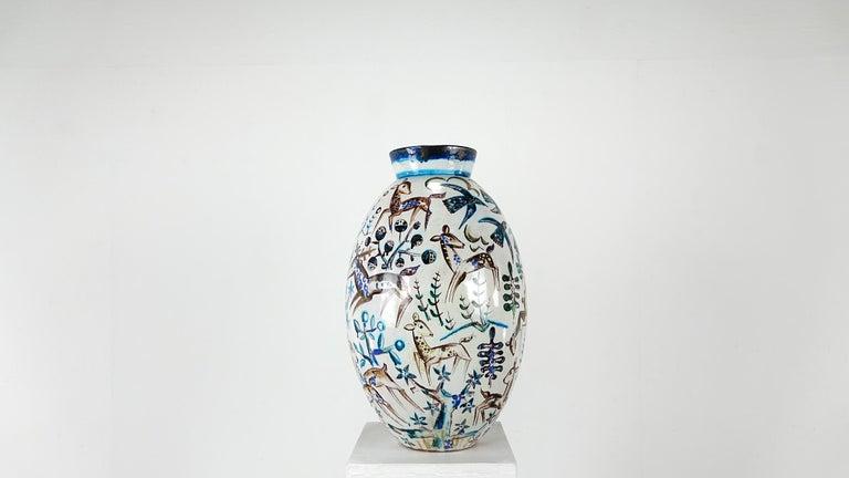 Bauhaus Professor Ludwig König Giant Vase Karlsruher Majolika For Sale 2