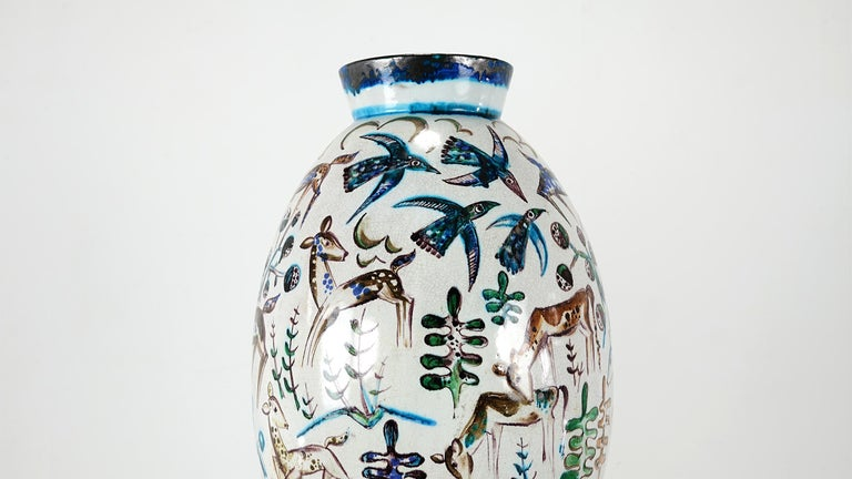 Bauhaus Professor Ludwig König Giant Vase Karlsruher Majolika For Sale 3