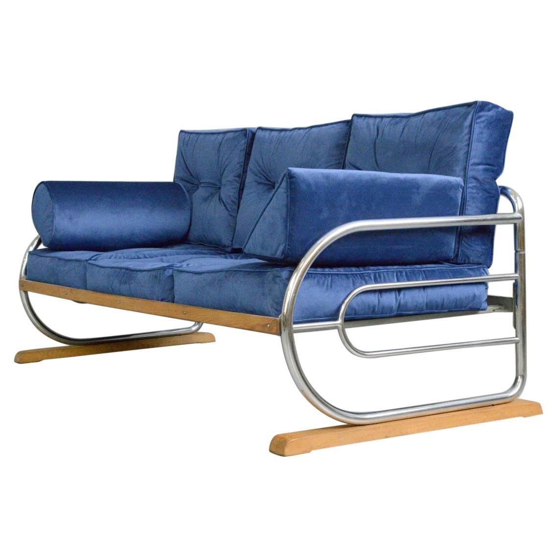 Bauhaus Sofa by Hynek Gottwald, Circa 1930s