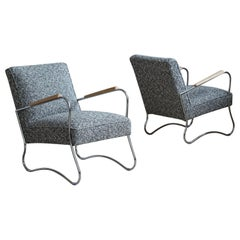 "Bauhaus Style Armchairs from ""Wschód"" Zadziele, 1950s, Set of 2"