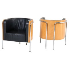 Bauhaus Style Club Tub Armchairs by Thonet Germany, 2000