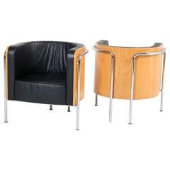 Bauhaus Style Club Tub Armchairs by Thonet, Germany, 2000