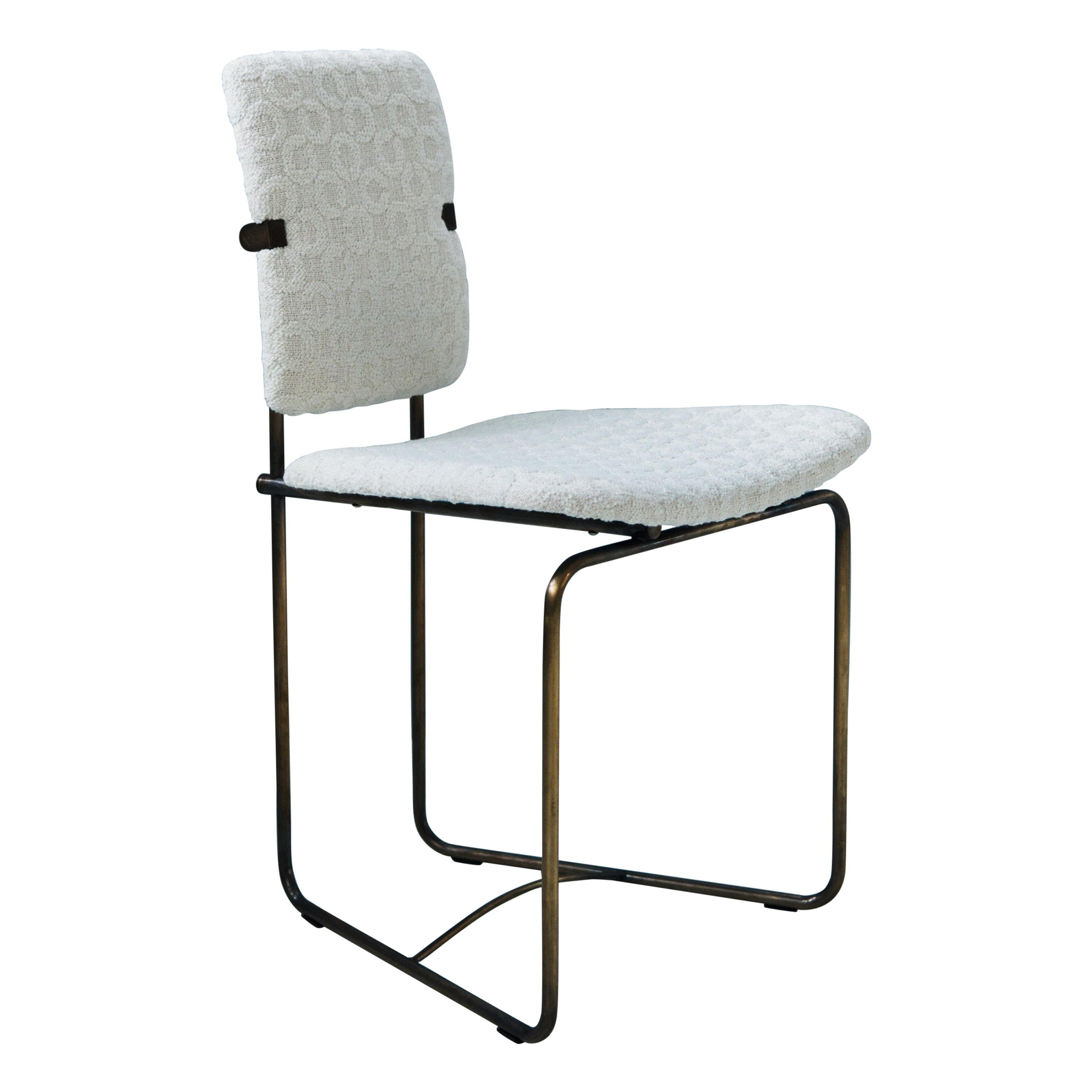 Bauhaus Style 'Jodie' S02 Chair in Aged Brass Framing by Peter Ghyczy