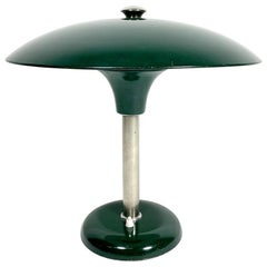 Bauhaus Style Oil Green Table Lamp, 1950s