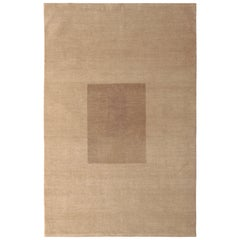 Bauhaus Style Rug Beige Brown Mid-Century Modern by Rug & Kilim
