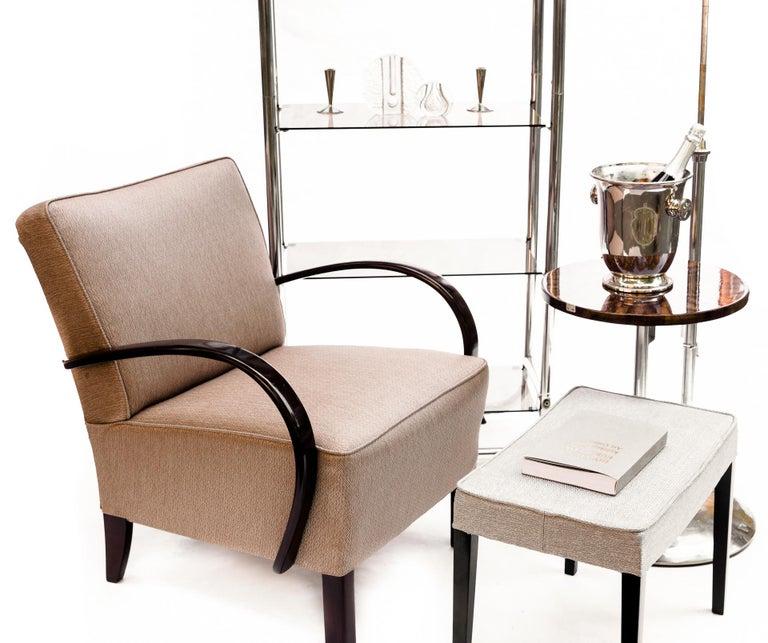 European Bauhaus Style Tubular Shelf, Chrome For Sale