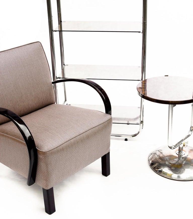 Plated Bauhaus Style Tubular Shelf, Chrome For Sale